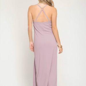 Dresses - Misty mauve Maxi Dress